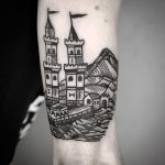 Castle towers by tattooist MAIC