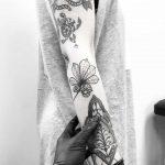 Chestnut leaf by tattooist pokeeeeeeeoh