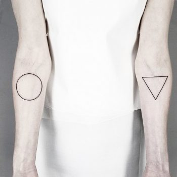 Circle and triangle by Malvina Maria Wisniewska