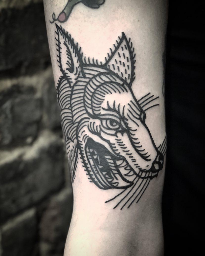 Cool wolf by tattooist MAIC