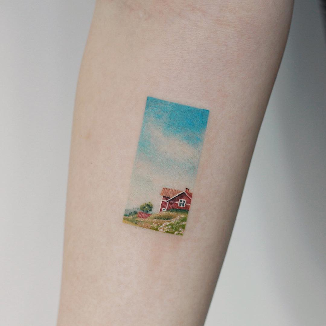 Countryside house by tattooist Saegeem