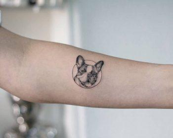 Doggo by tattooist Fury Art