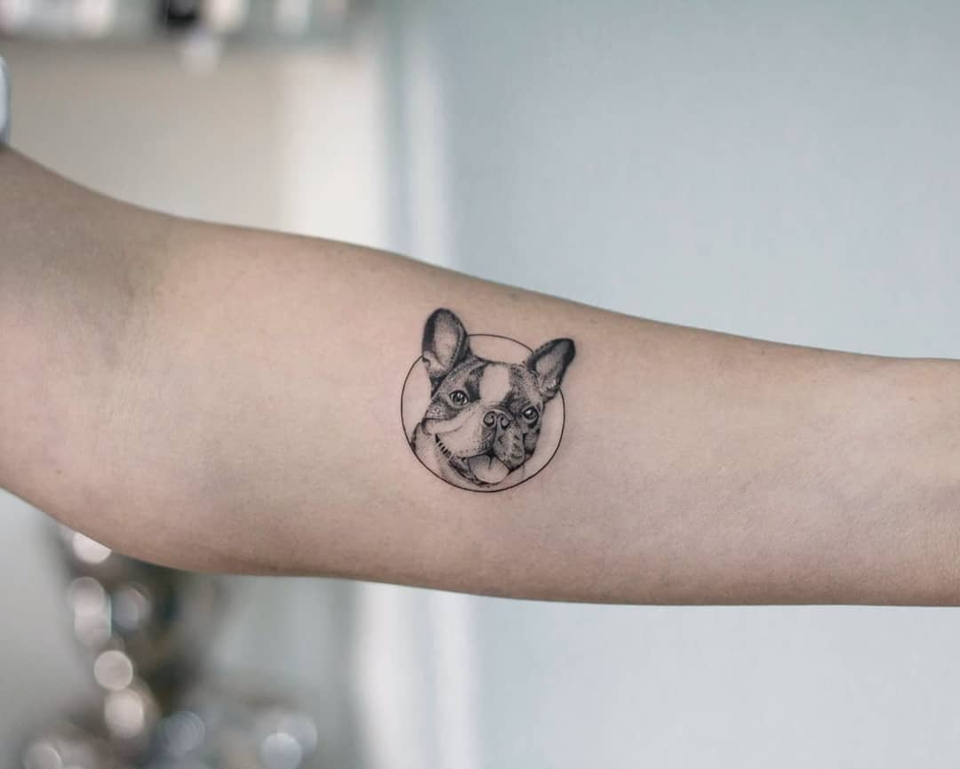 Doggo by tattooist Fury Art