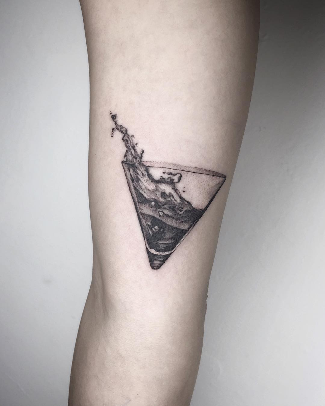 Dry Martini tattoo by Choco Chiang