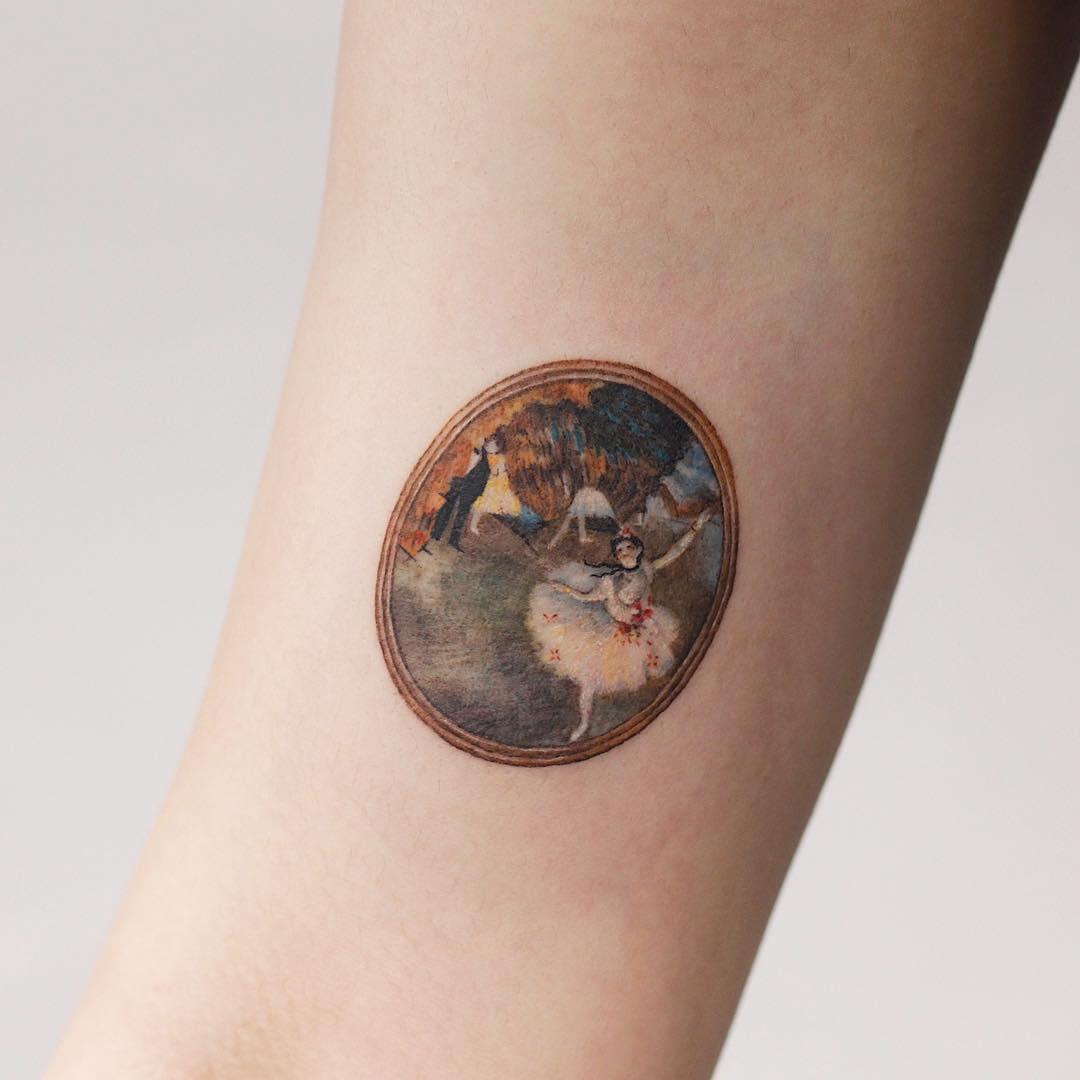 Edgar Degas' The Star (Dancer on Stage tattoo by tattooist Saegeem