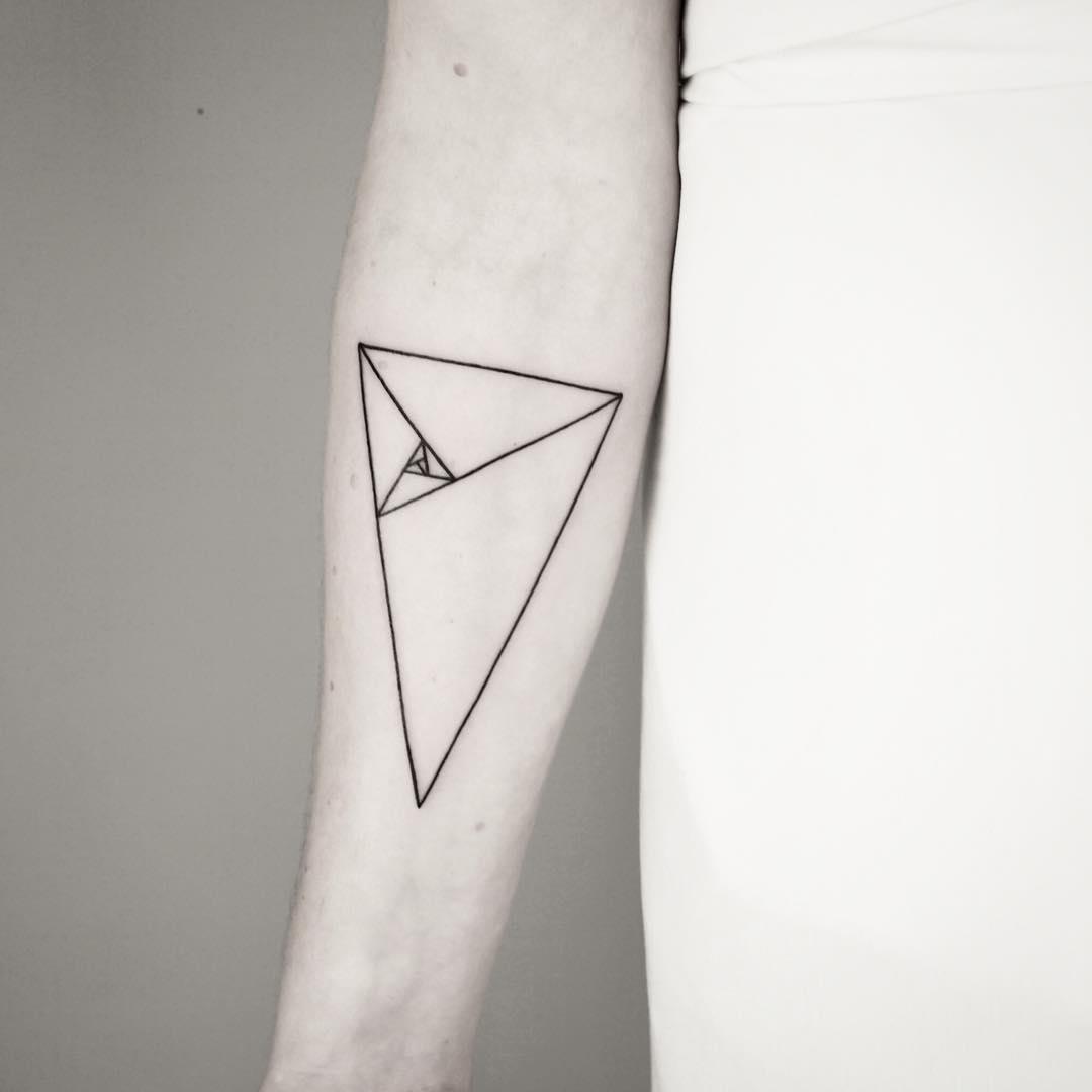 Fibonacci triangle by Malvina Maria Wisniewska