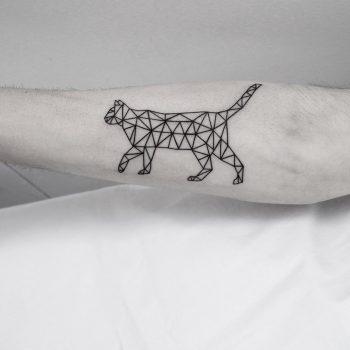 Geometric cat by Malvina Maria Wisniewska