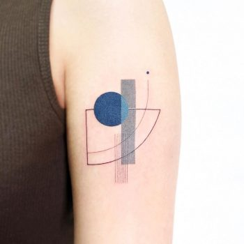 Grey and blue abstractions by tattooist Ida