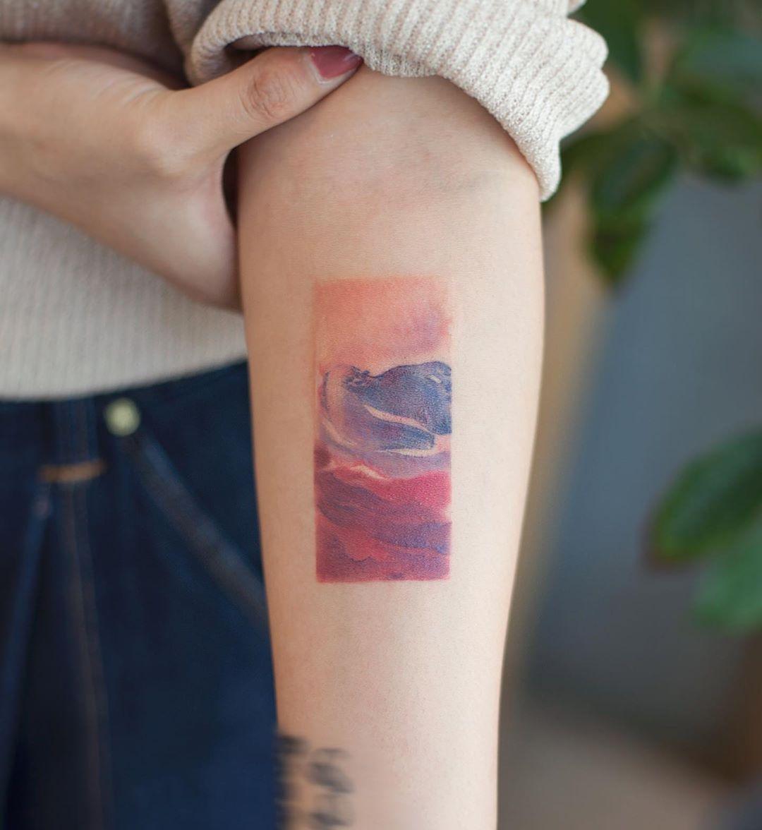 Hilma Af Klint painting by tattooist Franky