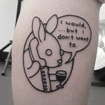 I would but I don't want to by tattooist Mr.Heggie