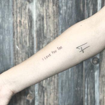I you too tattoo by Sara Kori