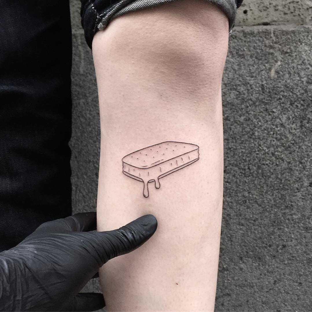 Ice Cream sandwich tattoo by tattooist pokeeeeeeeoh
