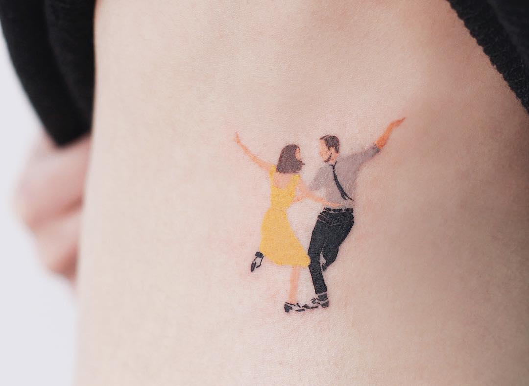 La La Land tattoo by tattooist Saegeem