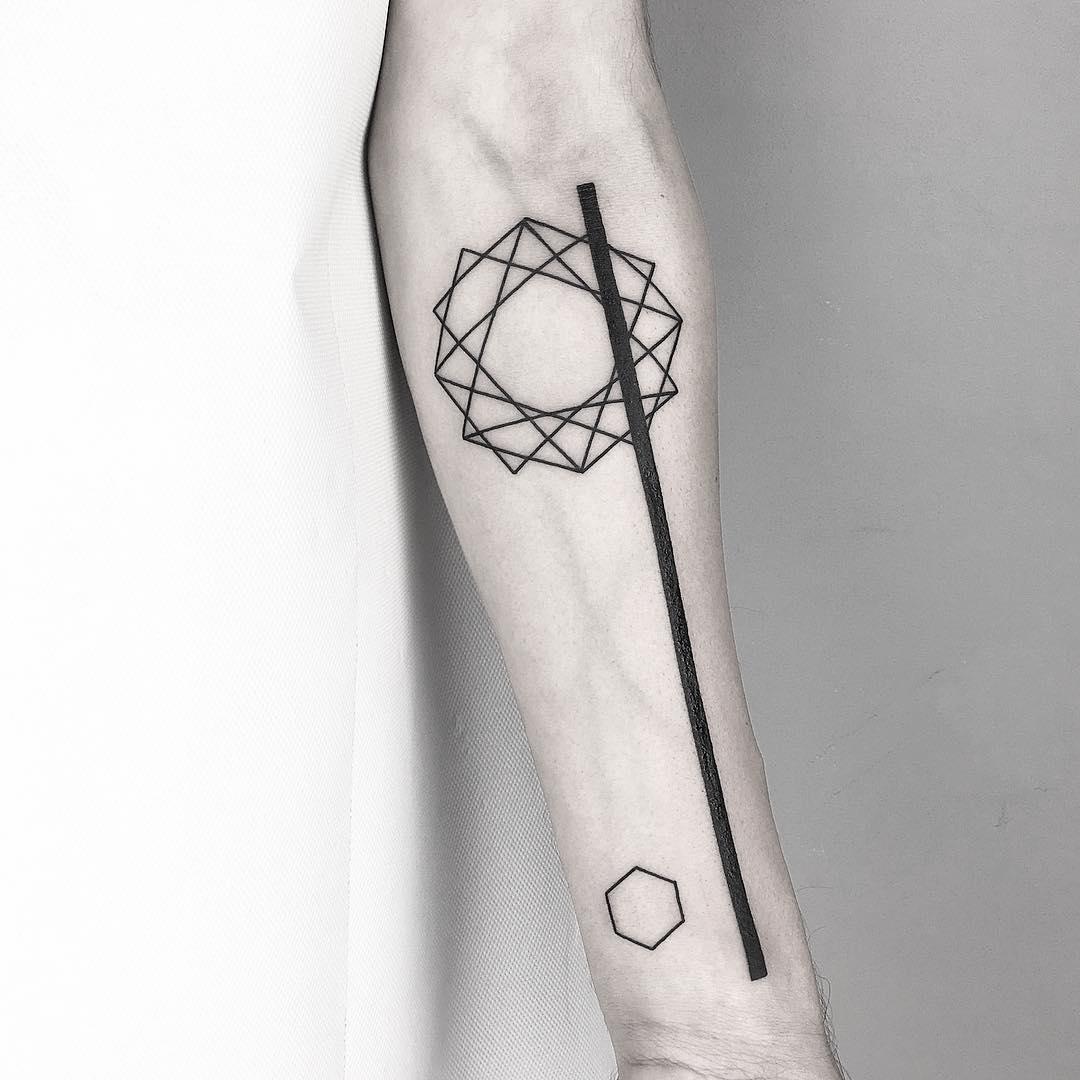 Line and shapes by Malvina Maria Wisniewska