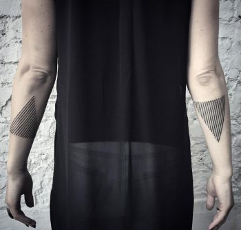 Linear triangles by tattooist MAIC
