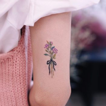 Lisianthus tattoo by tattooist Saegeem