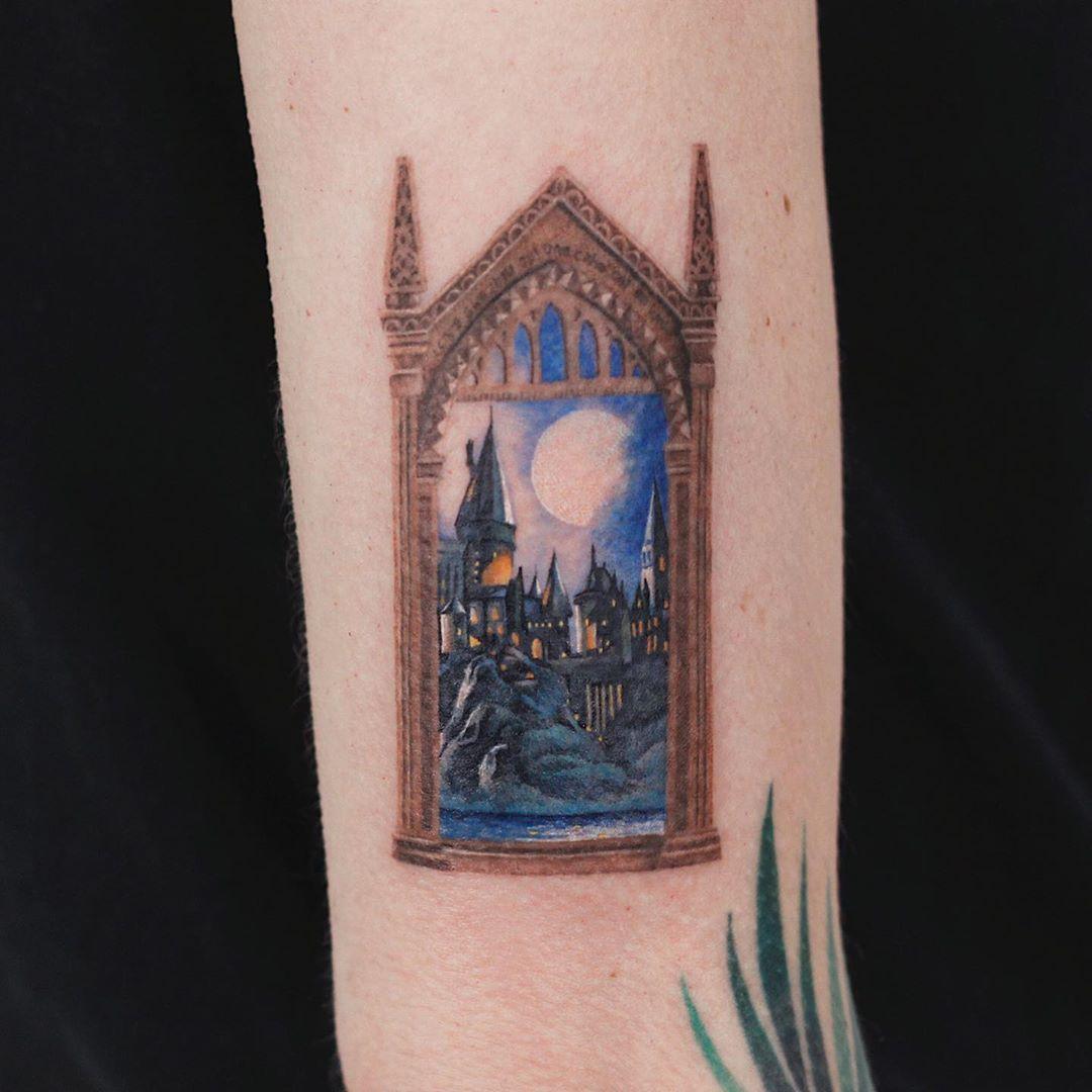 Mirror of erised tattoo by tattooist Saegeem