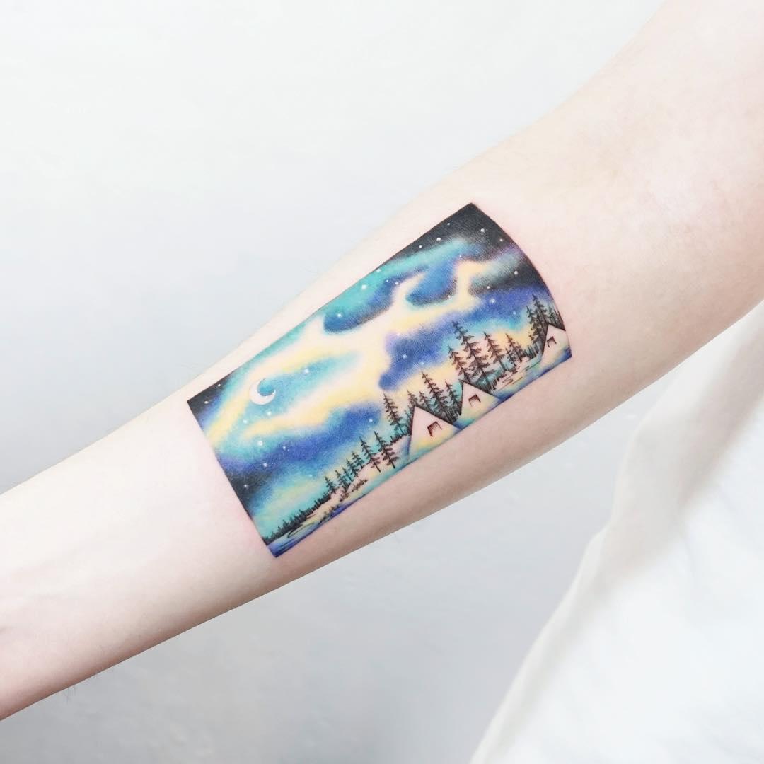 North sky by tattooist Ida