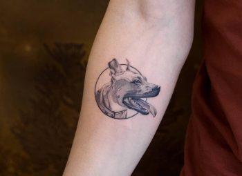 Osman dog by tattooist Fury Art