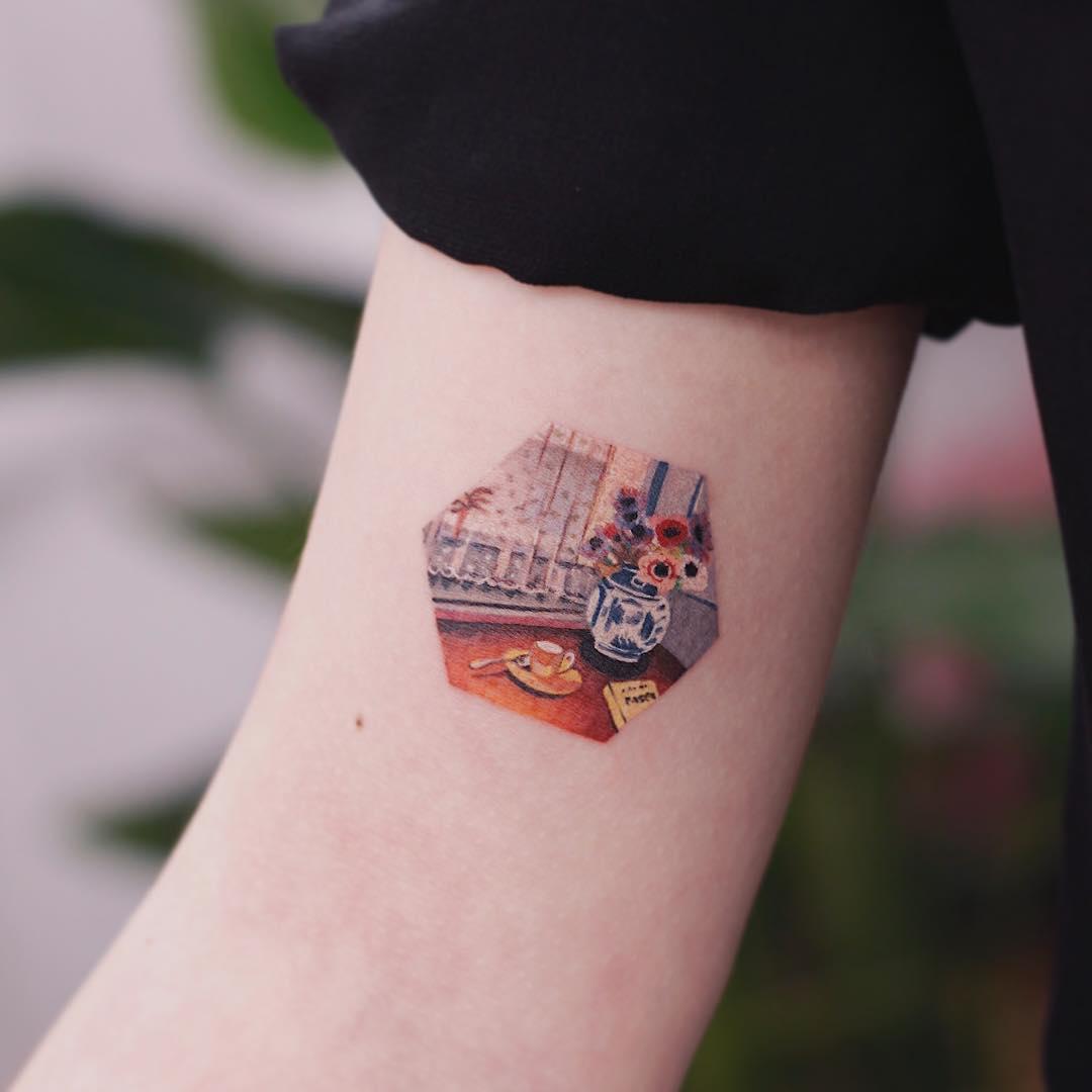 Pascal's Pensees tattoo by tattooist Saegeem