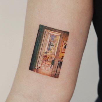 Patrick William Adam painting tattoo by tattooist Saegeem