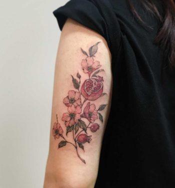 Pomegranate by Mumi Ink
