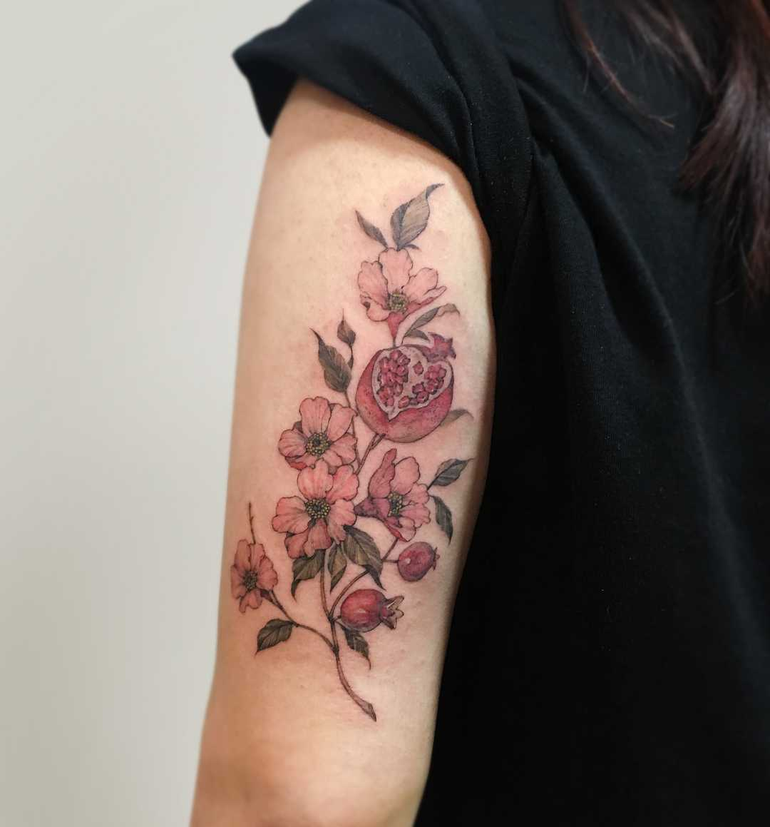 Pomegranate by Mumi Ink