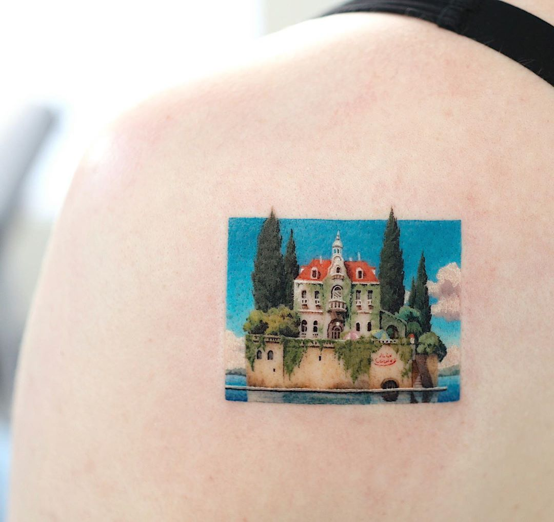 Porco rosso tattoo by tattooist Saegeem