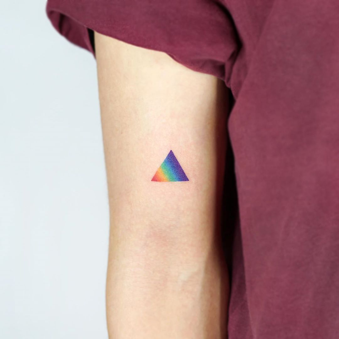 Rainbow triangle by tattooist Ida