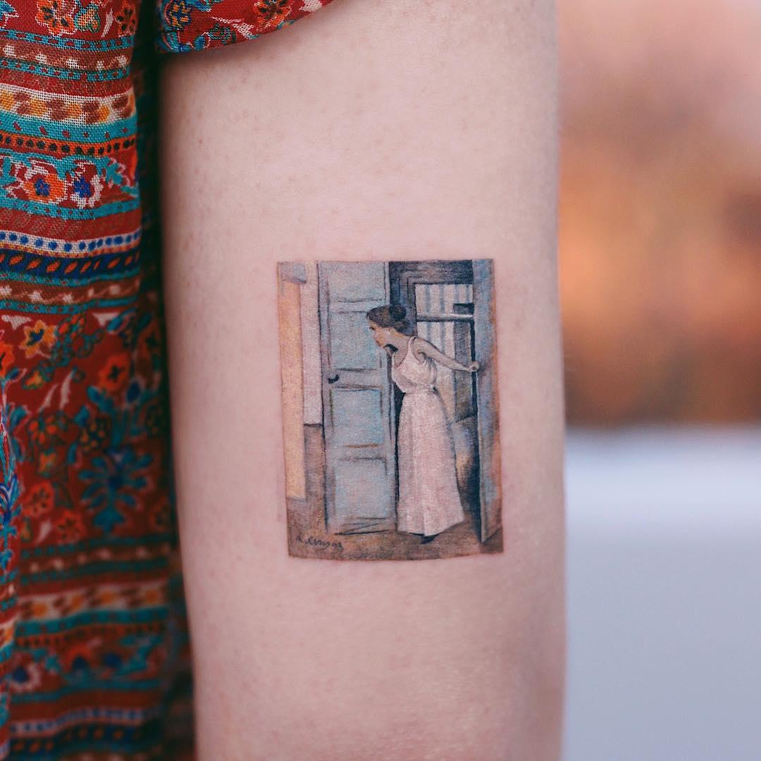 Ramon Casas' Over My Dead Body by tattooist Saegeem