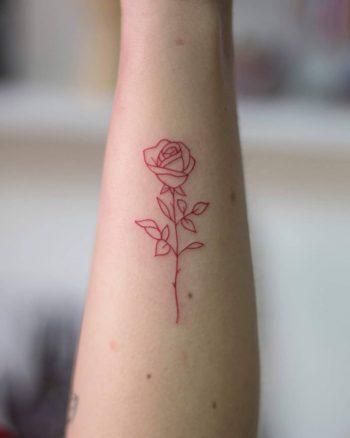 Red rose by tattooist Fury Art