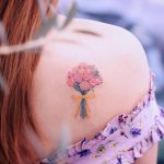 Rose jana bouquet by tattooist Saegeem