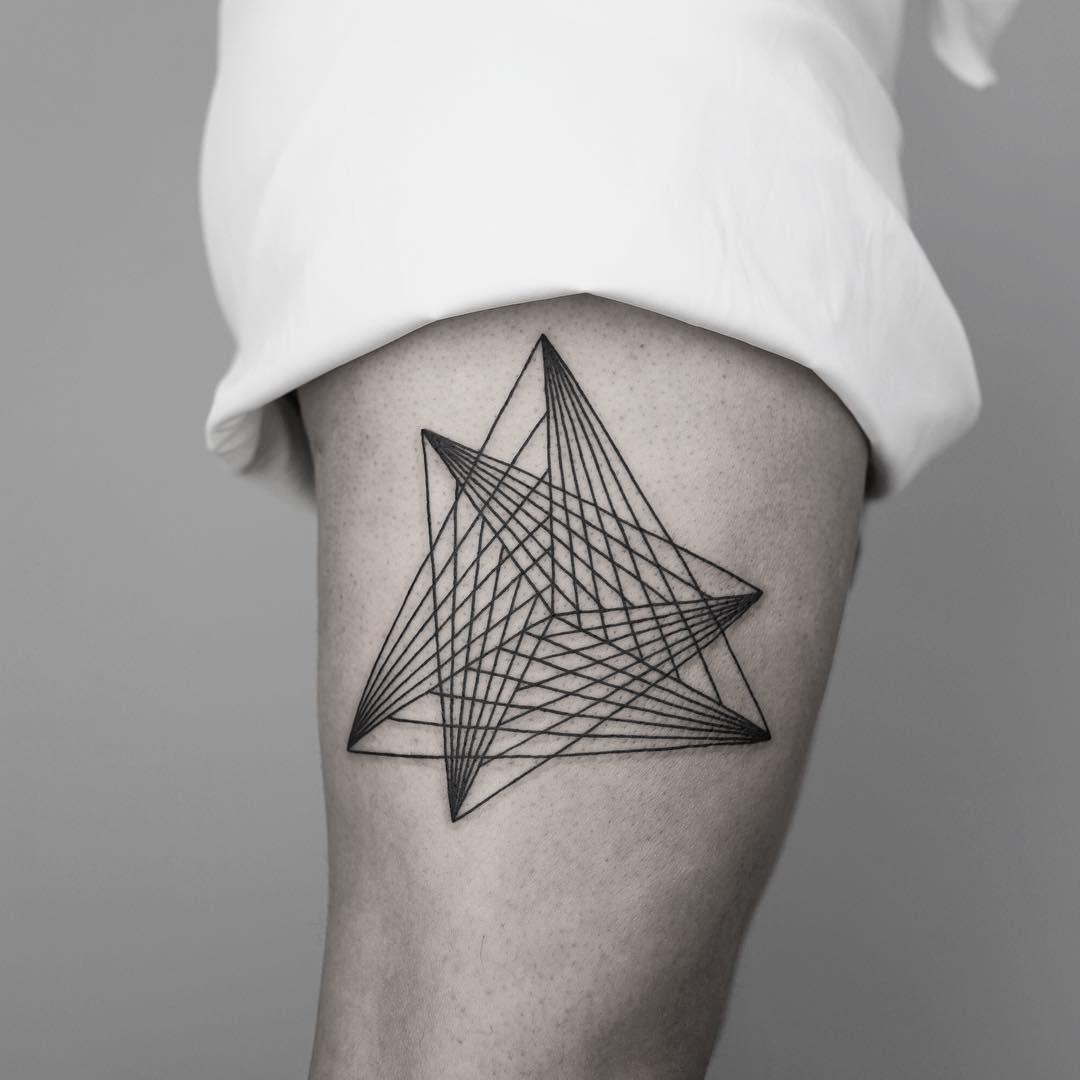 Shape on a thigh by Malvina Maria Wisniewska