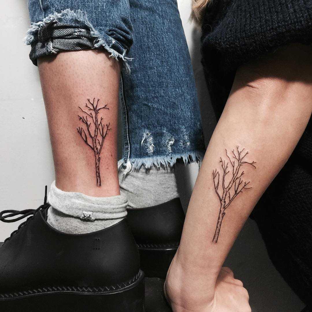 Sisters tattoos by Sara Kori