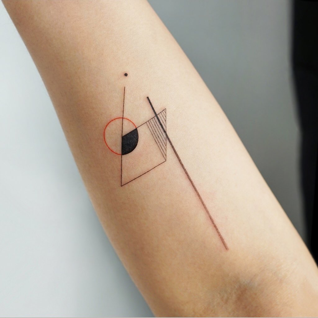 Small abstractions by tattooist Ida
