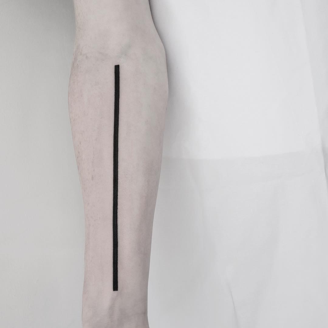 Straight line by Malvina Maria Wisniewska