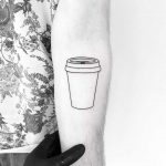 Take away cup tattoo by tattooist pokeeeeeeeoh