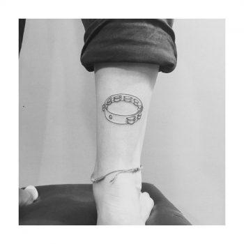 Tambourine tattoo by Sara Kori