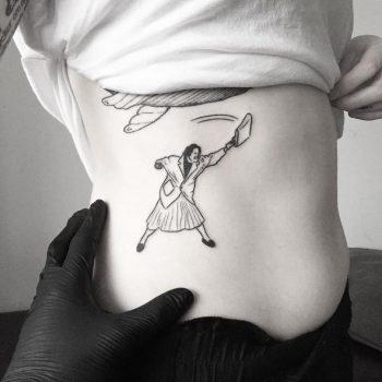 Tanten Med Väskan tattoo by tattooist pokeeeeeeeoh