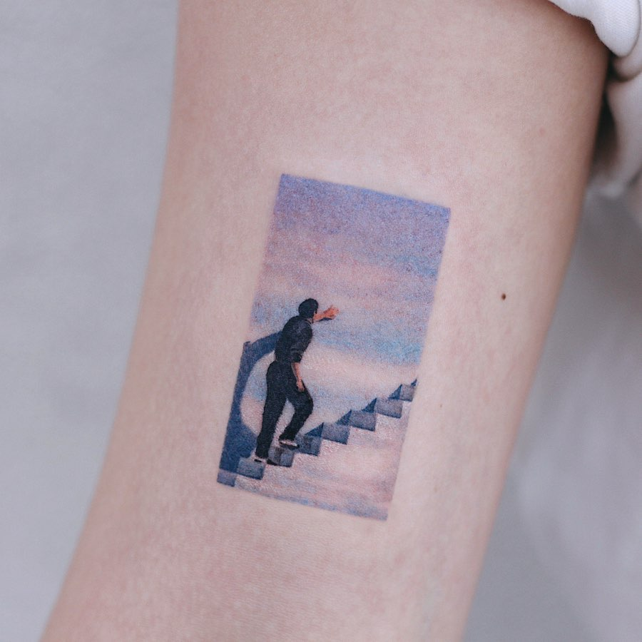 The Truman Show 1998 tattoo by tattooist Saegeem