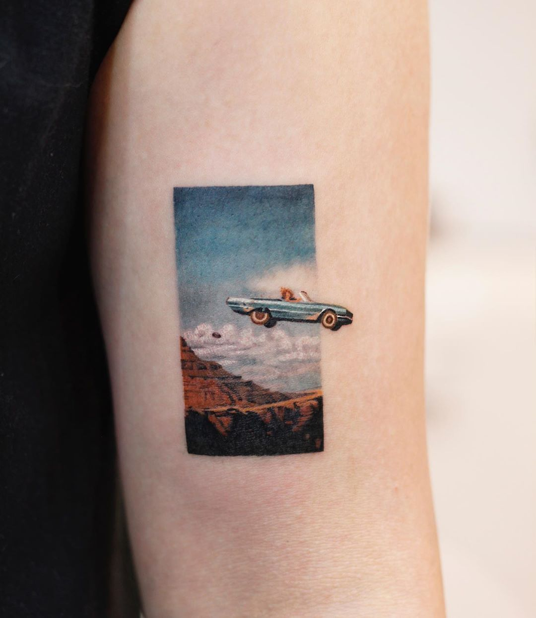 Thelma & Louise by tattooist Saegeem