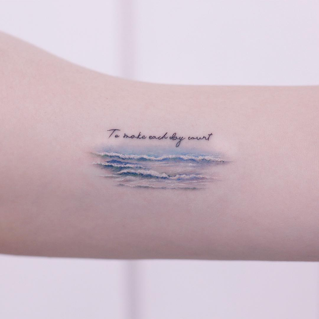 To make each day count tattoo by tattooist Saegeem