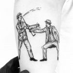 Two old guys by tattooist pokeeeeeeeoh