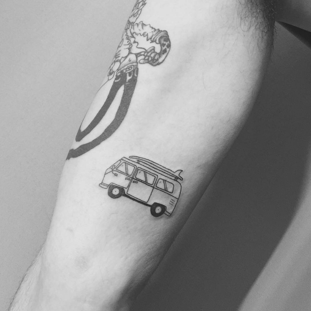 Vintage van tattoo by Sara Kori