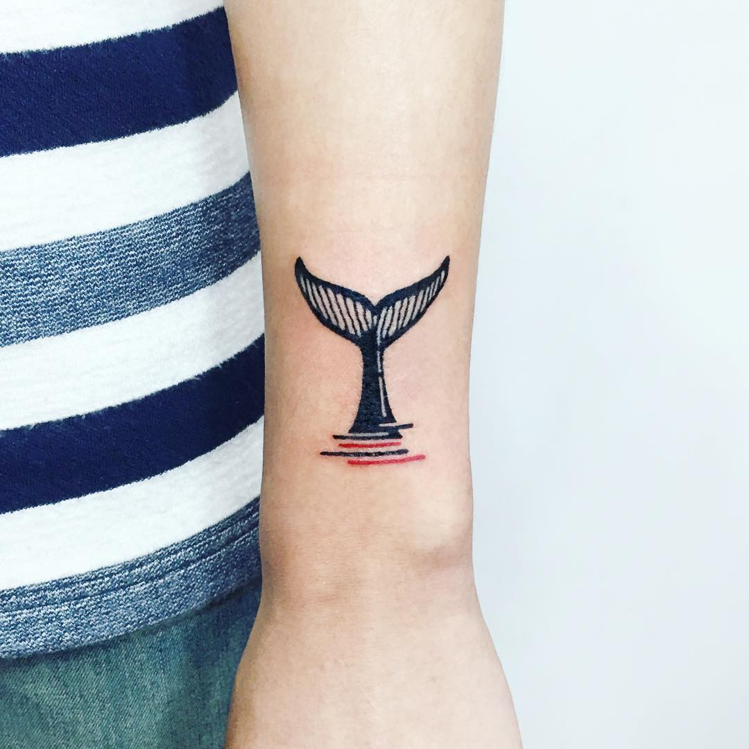 Whale tale by tattooist Ida