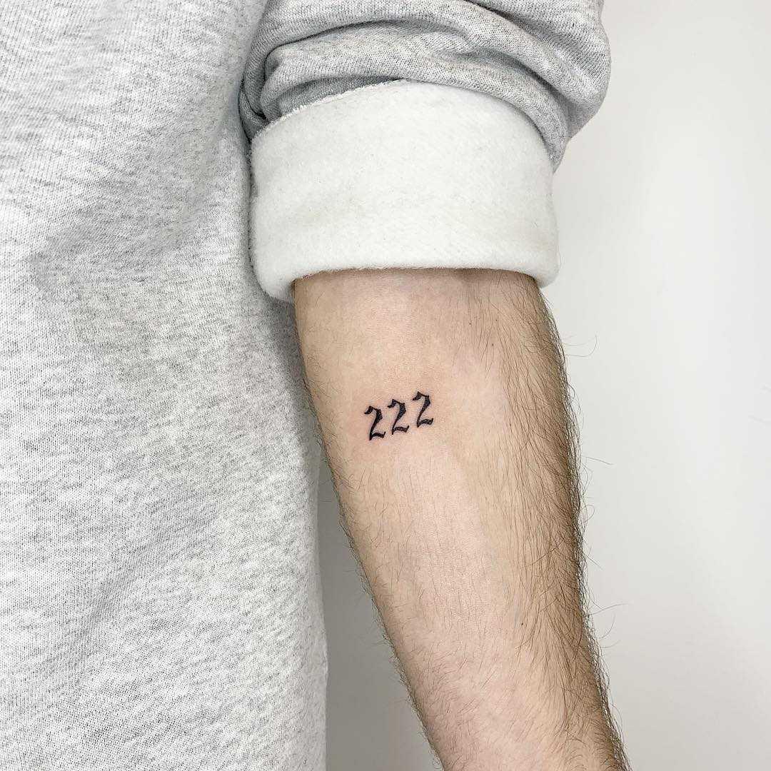 222 tattoo by Sara Kori