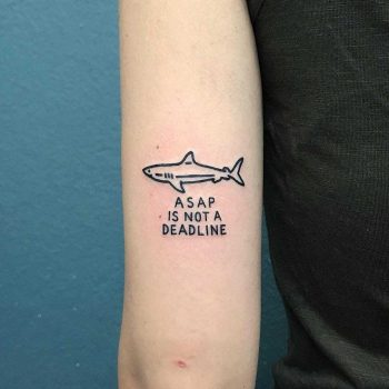 A sap is not a deadline tattoo by @themagicrosa