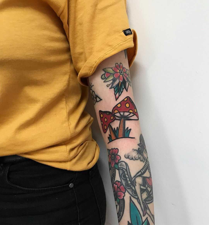 Amanita tattoo by rocotatt