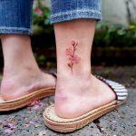 Apricot flower by tattooist Saegeem