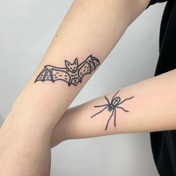 Bat and spider by @themagicrosa